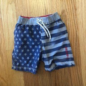 American flag swim trunks 3T